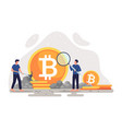 crypto currency mining vector image vector image