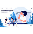 customer support concept professionals help vector image vector image