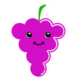 cute grapes emoticon vector image