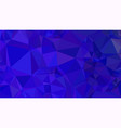 dark blue triangular low poly mosaic abstract vector image