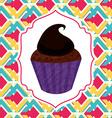 delicious cupcake vector image vector image