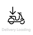 delivery loading bike icon editable line vector image vector image