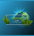 earth day design vector image