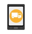 electronic device with commerce icon vector image vector image
