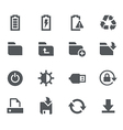 Energy Storage and Output Icons - Apps Interface vector image