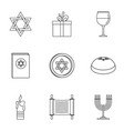 fanatic icons set outline style vector image