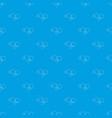 fashion earrings pattern seamless blue vector image