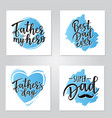 father is my hero lettering poster set vector image vector image