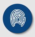 fingerprint sign white vector image vector image