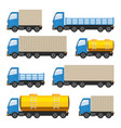 flat set of trucks vector image vector image