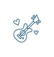 Guitar music line icon concept guitar music flat