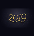 happy new year 2019 wishes typography vector image vector image
