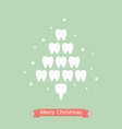 healthy tooth in the shape of christmas tree vector image
