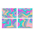 holographic card background fluid colors banners vector image vector image
