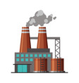industrial factory building with polluting smoke vector image vector image