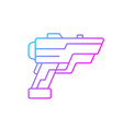 laser weapon gradient linear icon vector image