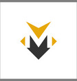 letter m icon template vector image vector image