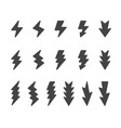 lightning icon set vector image vector image