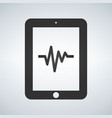 medical record in tablet health data vector image