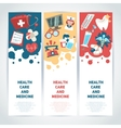 Medical vertical banners vector image vector image