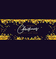 merry christmas and happy new year horizontal vector image vector image