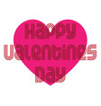 mod valentine typography graphic with heart vector image vector image