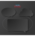 Modern flat design speech bubbles vector image vector image