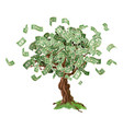 money savings tree vector image vector image