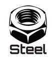 monochrome with steel nut eps 10 vector image