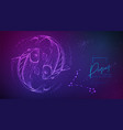 neon fluid astrology pisces zodiac sign