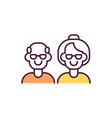 old people rgb color icon vector image vector image