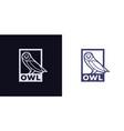 owl logo icon vector image