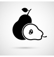 pear and its half isolated vector image vector image