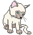 pixel kitten vector image vector image