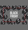 realistic black friday poster with balloons