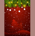red christmas background holiday season new year vector image