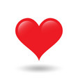 red heart on white background with shadow vector image
