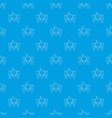 robot crab pattern seamless blue vector image