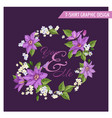 romantic summer floral design clematis flowers vector image vector image