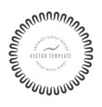 round decorative border frame with wavy line vector image