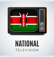 round glossy icon of kenya vector image vector image