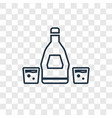 rum concept linear icon isolated on transparent vector image vector image