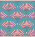 semless pattern of orientl chinese hand fan vector image vector image