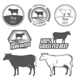 Set of beef labels badges and design elements vector image vector image