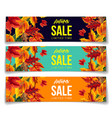 set of coupons for autumn sale vector image
