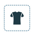 short sleeve t-shirt icon vector image vector image