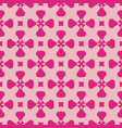simple pink geometric seamless pattern with cross vector image vector image