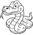Snake outline vector image vector image