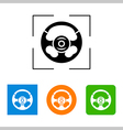 Steering wheel - icon isolated vector image vector image