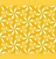 sunny yellow floral geometric seamless pattern vector image vector image
